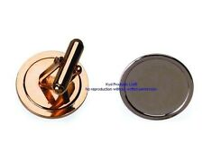 50 Pcs Cufflink blank for 16mm round dome gold plated