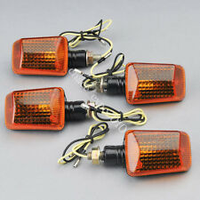 4x Orange Lens Motorcycle Quad Bike Turn Signal Indicators Light Bulb Amber 12V