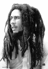 BOB MARLEY - BLACK & WHITE PORTRAIT - FABRIC POSTER - 30x40 WALL HANGING 51027