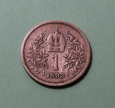 Austria, 1 Corona, 1893-Franz Joseph I, silver coin           [#B535]