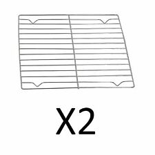 "Fox Run 10""x10"" Chrome Cooling Rack Rectangular Grid Cooking Baking (2-Pack)"