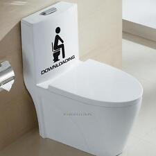 DOWNLOADING Restroom Toilet Seat Wall Stickers Removable Bathroom Door Decals