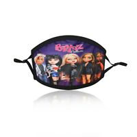 Kids Girls Doll Cotton Face Mask Washable Double Layered Adjustable Bratz