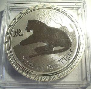 Australien Lunar  Tiger 2010 1OZ Silber .  Fabulous F15 Serie
