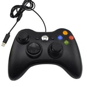 Data Frog USB Wired PC Gamepad Game Handle Joystick for Windows(Black)