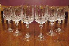"Lovely Set Of 6 Vintage Cristal D'Arques 7 1/8"" Longchamp Crystal Water Goblets"