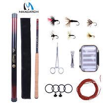 13FT Tenkara Rod Kit Telescopic Fly Fishing Pole, Flies, Line, Box Ready To Fish