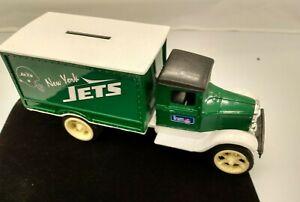 Ertl Goal Line Classics Metal Truck Coin Bank New York Jets