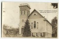 RPPC Postcard First Lutheran Church Jeffersonville Sullivan Co NY New York