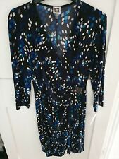 Anne Klein Black Sapphire Multi Printed Dress Size 6