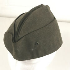 Vintage military style hat with stamp inside green excellent condition hbx37