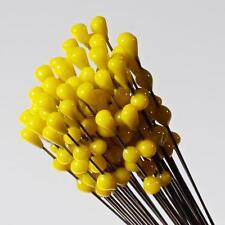 (1) lampworked Czech yellow flower stamen art glass craft arranging headpin bead