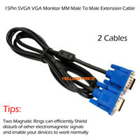 Premium VGA to VGA Cable Cord (6 Feet, 6ft) HD15 Male to Male, 100% Bare Copper