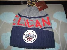 MITCHELL AND NESS NEW ORLEANS PELICANS CUFFED KNIT POM BEANIE NWT