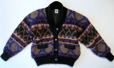 Icelandic Design Hand Knit Wool Mohair Multi-color Oversized Sweater Size S / M