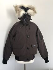 NWT CANADA GOOSE LADIES DOWN CHILLIWACK BOMBER HOODED JACKET SZ L/G