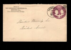 Connecticut Breweries - Meriden Brewery Ansonia CT 1894 Columbian PSE Cover 5g
