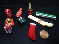 Miniature Dollhouse Christmas Lot Accessories Gifts Wrapping Paper Stocking WOW