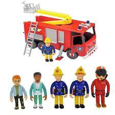 Fireman Sam Spielzeug Figur Set & Jupiter Feuerwehr Wagen Schutz Notfall Satz