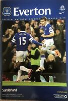 EVERTON V SUNDERLAND FOOTBALL PROGRAMME 2013/14