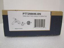 Peerless PTT298696-BN Two Handle Roman Tub Trim Only Brushed Nickel NEW OPEN BOX