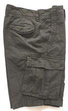 "American Eagle Mens Shorts Grey Check Cargo Walk Zip Combat 30"" Small Medium"