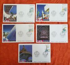 "FRANCE Yvert N° 2579/83 panorama de paris"" FDC, enveloppe 1er jour 1989"