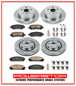 Brake Pad & Rotor/Disc Kit Front & Rear for TOYOTA Highlander 2008-13