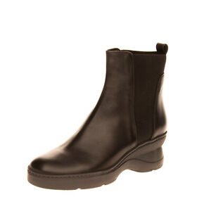 RRP €110 GEOX RESPIRA Leather Ankle Boots Mismatch Size L39 R40 Wedge Pull On