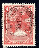 Tasmania nice 1911 BALFOUR pmk (type 2a(x) on 1d pictorial rated S+(6)