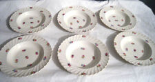 Devonshire Royal Staffordshire Ceramics by Clarice Cliffs Rim Soup bowl Set (6)