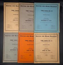 Lot Of 6 Boston & Maine Railroad Employee Time Tables & Rule Booklets 1931-1932