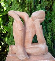 Steinfigur Mensch Träumer Gartendeko Gartenfigur Gartenskulptur Statue Beton