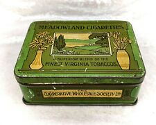 More details for cooperative/cws vintage meadowland cigarettes tin-tobacciana/tobacco advertising