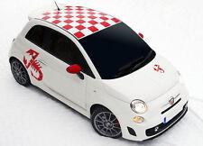 Fiat 500 Abarth roof stickers & 4 Scorpion logos  car vinyl decals, graphics