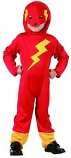 FLASH FIGHTER TODDLER KIDS BOYS FANCY DRESS CHILDREN PARTY COSTUME 2-4