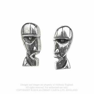 New Alchemy Rocks Official Licensed Pink Floyd Division Bell Stud Earrings PE9