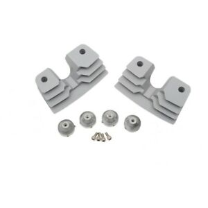 Finned Style Silver Spark Plug Head Bolt Covers For Harley Davidson Twin Cam