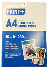 10 Sheets A4 High Gloss Photo Paper Inkjet, Laser Printer & Photocopiers 230gsm