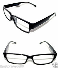 Men's small square Shape Designer Clear Lens Eye Glasses Black Frame Graphic 468