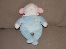 EDEN STUFFED PLUSH BABY LAMB BLUE LACE LACY RUFFLE COLLAR DUCK CHICK 8""