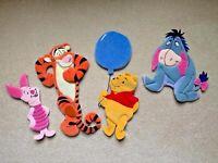 Vintage Winnie The Pooh, Tigger, Piglet & Eeyore Plush Wall Decor