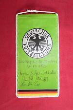 gagliardetto Football Pennant - DEUTSCHER FUSSBALL-BUND NAPOLI 1990 AUTOGRAFI