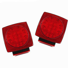 "Submersible Square Led Trailer Tail Lights Under 80"" Brake Boat Dot"