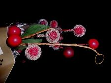 5 Ft Holiday Red Berry Green Leaf Garland Country 60 inches long wired