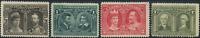 Canada #96-98,100 mint F/F-VF OG H/DG/HR 1908 Quebec Tercentenary Issue Part Set