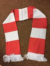Red and White bars Football Scarf Liverpool LFC Arsenal AFC Stock City SCFC SUFC