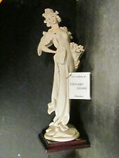 "Giuseppi Armani 1987 Lady With Strawberries Figurine 15"" Attached Base w/ box"