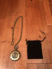 Fallout 4 Vault Boy 111 Steampunk Vintage Quartz Pocket Watch Necklace Nuca Cola