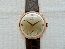 Large 1947 OMEGA 37 MM SOLID 18K ROSE GOLD Manual Wind Wristwatch 2619